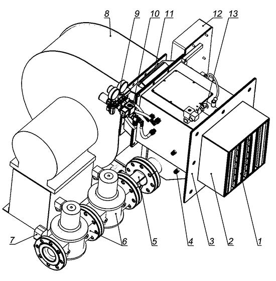 Схема комбинированной горелки