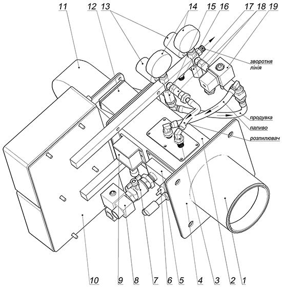 Схема дизельной горелки