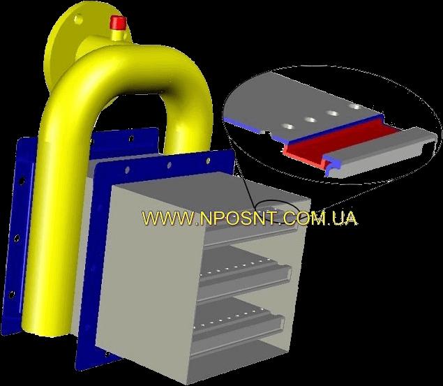 Схема блочной газовой горелки